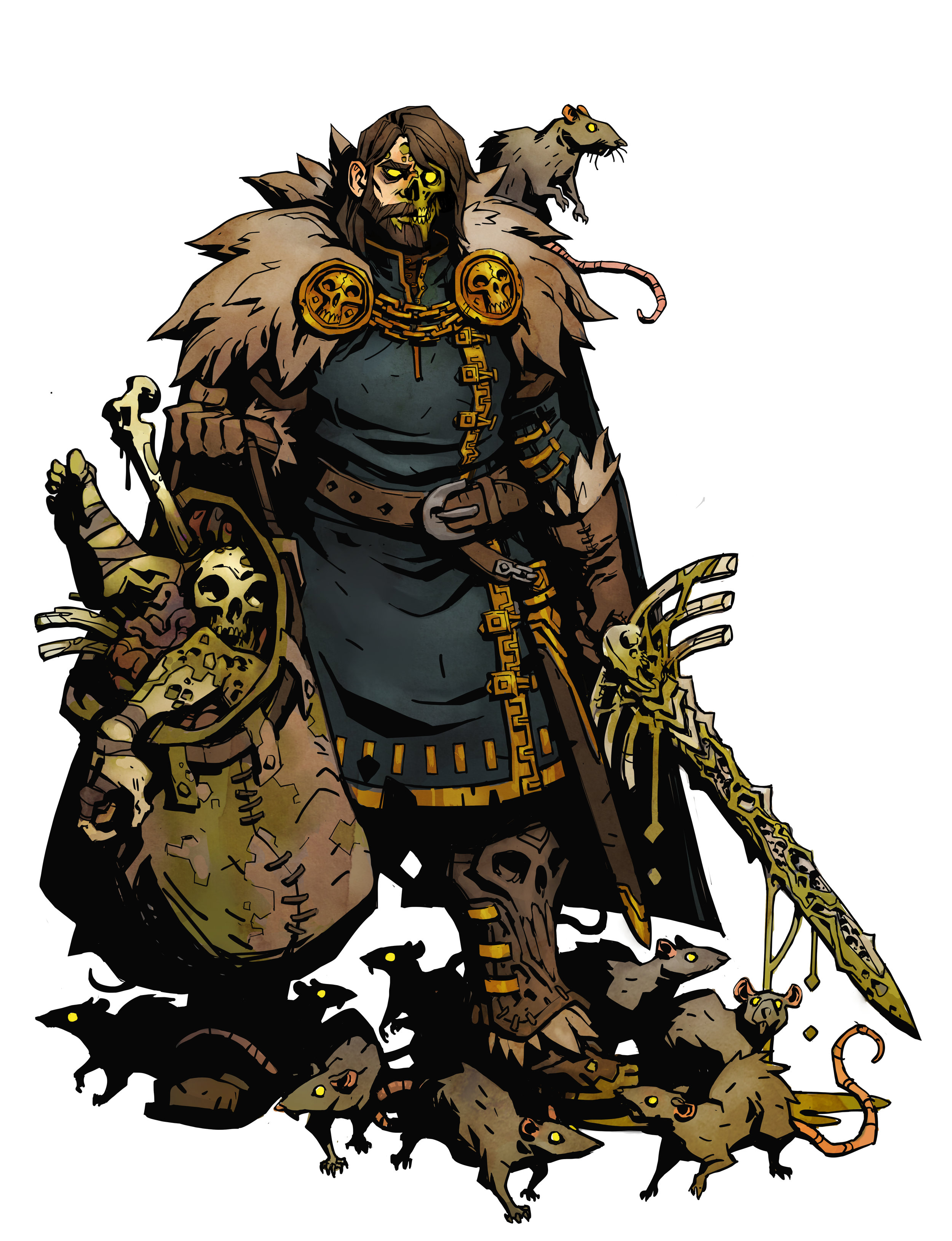 PLAGUE BARON FAQ - Q: The Plague Corpse Parts Last 4 Turns… How is that calculated?A: They disappear after 4 total turns, meaning your turn, opponent's turn, your turn, opponent's turn, then they are gone.Q: Do Corpse Parts disappear after the Plague Baron dies?A: Yes.Q: Can I stack multiple Corpse Pox Tiles on 1 space?A: No. Only 1 Corpse Pox tile can be on 1 space. A Ghost Knight and/or Flames can also occupy the space, however. Don't get knocked onto that space, yeesh.