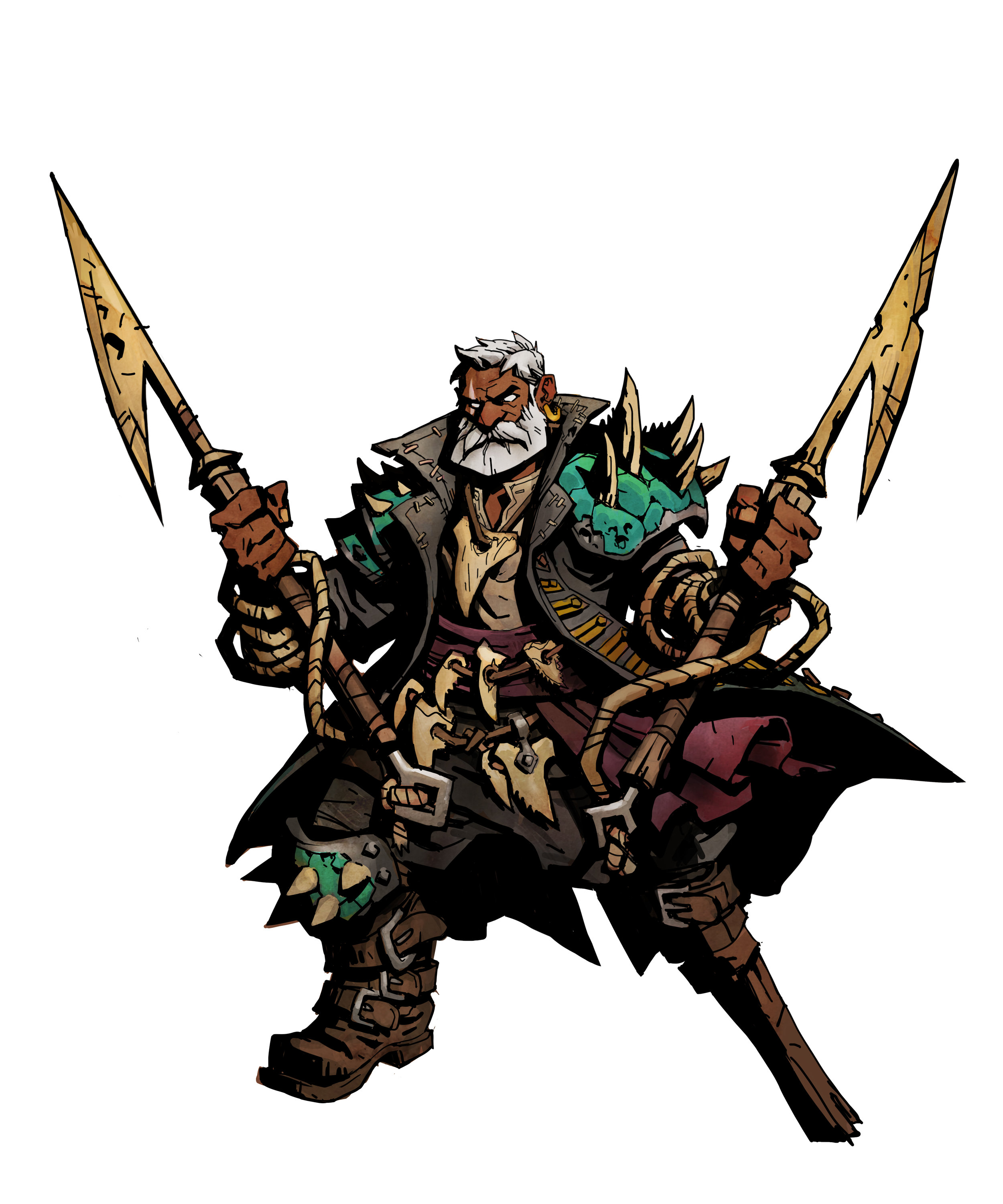 """Leviathan Hunter - Q: When I'm impaled by harpoons from the attack """"Dead On,"""" what happens?A: You are impaled with harpoons, you can't move or attack until you remove the harpoons. To remove the harpoons, the player needs to spend 1 Movement Speed. Q: If I'm impaled from """"Dead On,"""" and I'm knocked back, what happens?A: The player will be knocked back and the harpoons will be removed."""