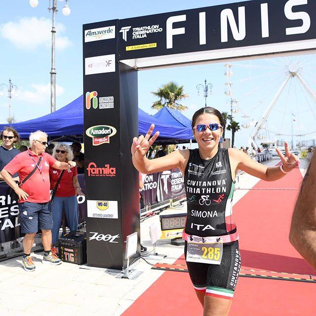 Esordio per la nostra @siminasimmy al Triathlon Sprint di Cesenatico   grande guerriera ✨ ottima gara! #civitanovatriathlon #morethanjustateam @chronobike @mythosalute