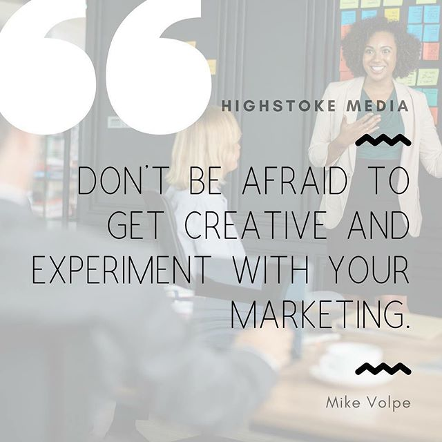 It all begins with creativity. #highstokemedia
