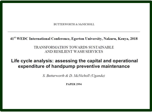 WEDC PAPER-LIFE CYCLE ANALYSIS