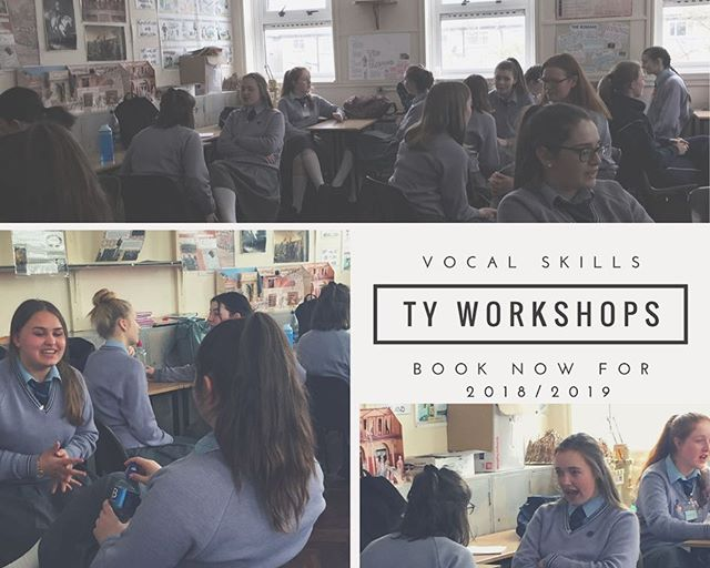 We are now taking bookings for next years TY Vocal and presentation skills workshops. #freeyourvoice