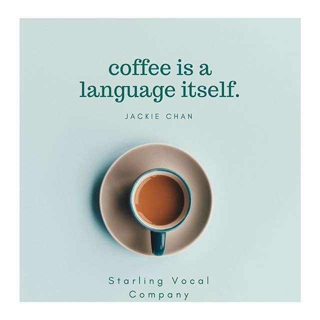 Speaking in any language with a level of skill can be difficult before coffee. #coffee #theatre