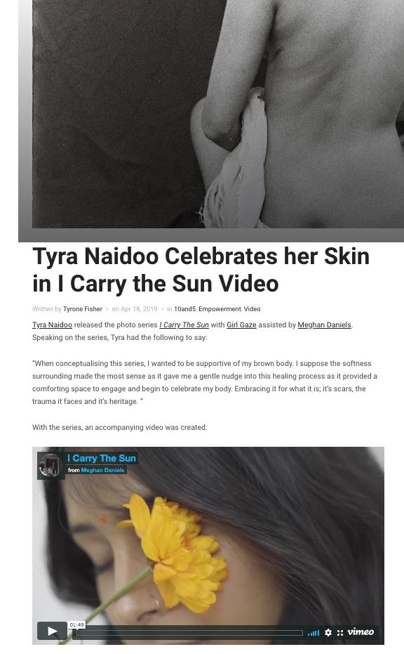 Tyra Naidoo's 'I Carry the Sun'