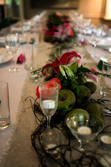Centerpieces and Table Setting