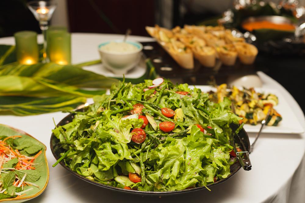 Garden Salad of Rocket, Cherry Tomatoes, Avocado with Lemon Vinaigrette