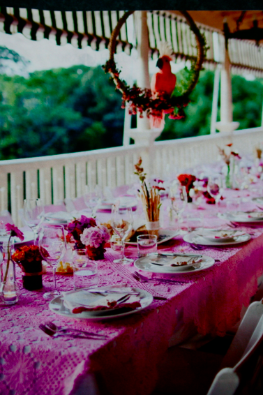 The Long Gorgeous Pink Table Setting