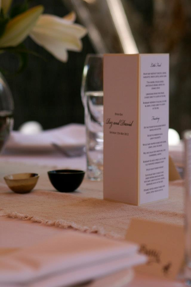 The Menus on the Table