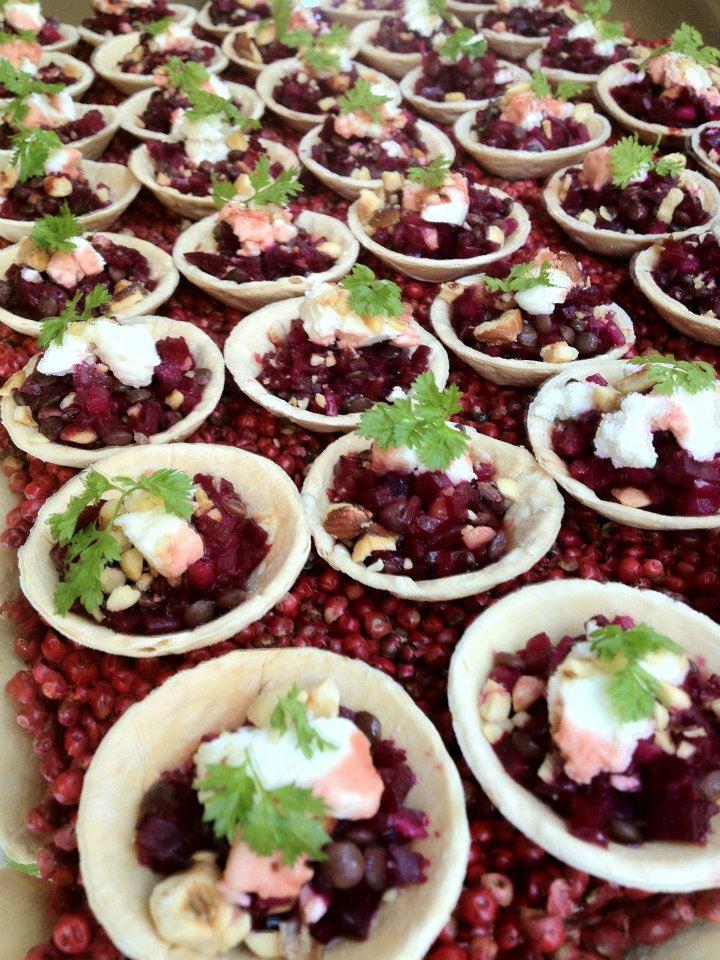 Baby Beetroot Tartlets