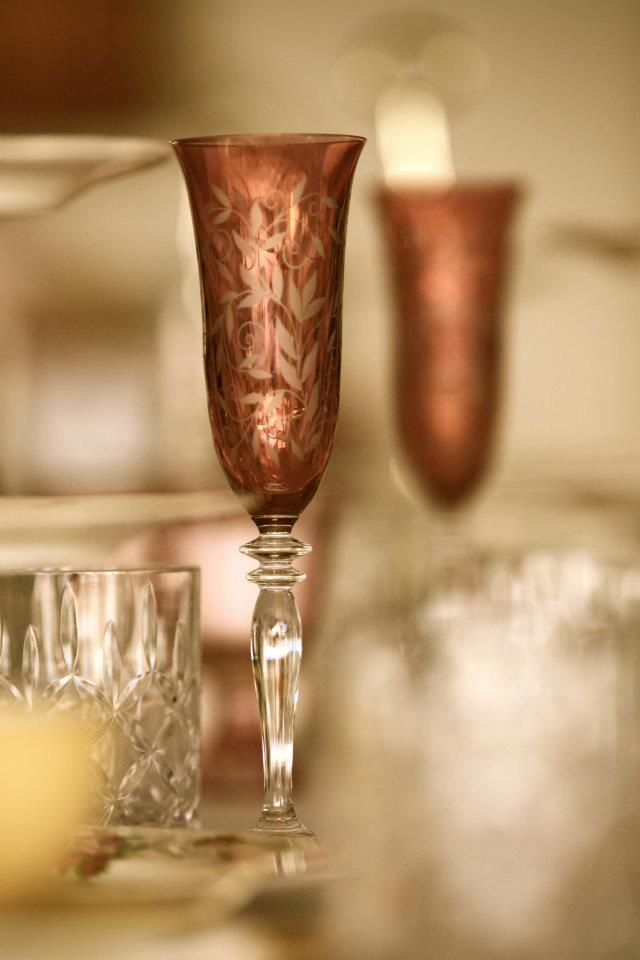 Vintage Crystal Flutes and Glasses