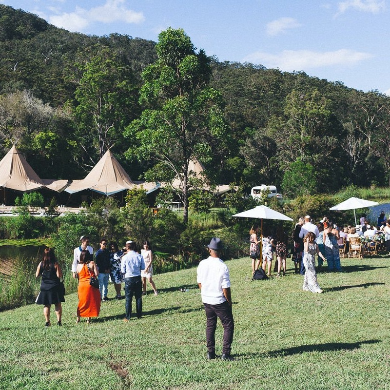 GOLD COAST FARMHOUSE    Reception:  Tipi, Marquee   Guests standing:  150