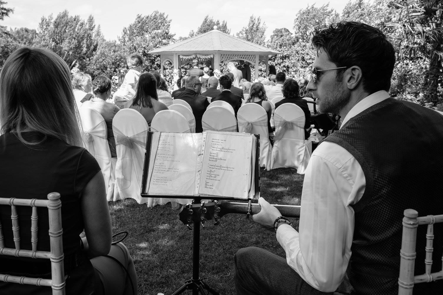 Above:Performing at Katy and Ben's Wedding Ceremony in Warwickshire