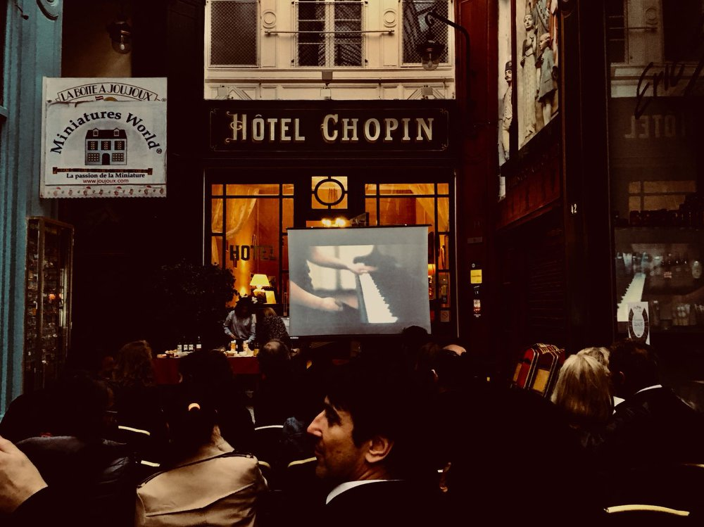 At Intertwining Arts' film release at the Hotel Chopin in Paris