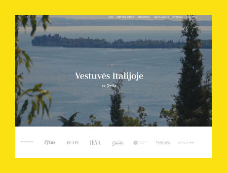 Wedding in Italy with Dovile  - content strategy + website.