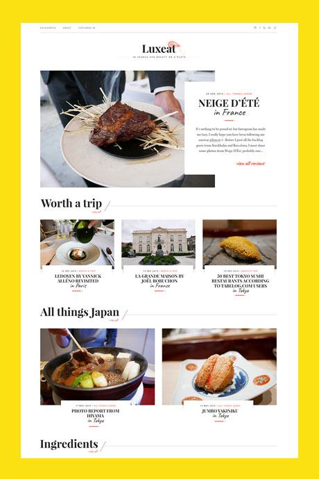 Luxeat  - identity design + blog design for a world-class foodie.