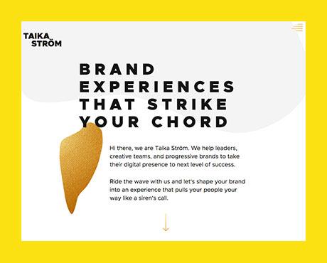 Taika Ström  - brand concept, identity, website.