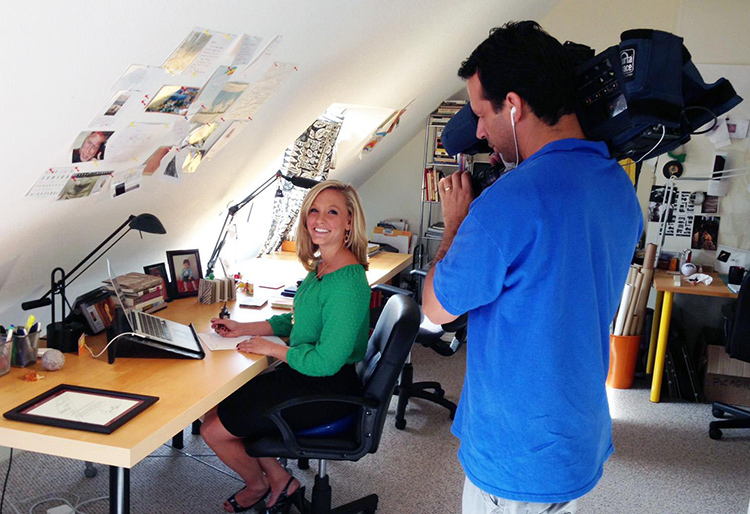 ABC40/WGGB visiting FromABirdie.com and doing a news story.