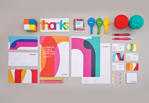 Brand identity for Benevolent, Australia's charity. Design by Design Works