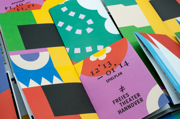 Brand identity for Freies Theater Hannover. Design by Hardy Seiler
