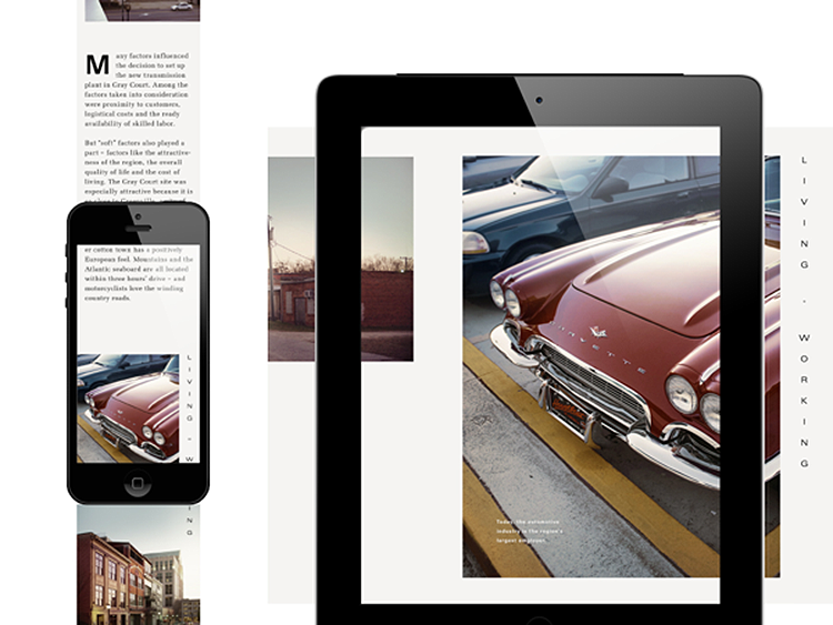 "Photo subtitle: ""Drive"" magazine app by Swipe Studio, Germany."