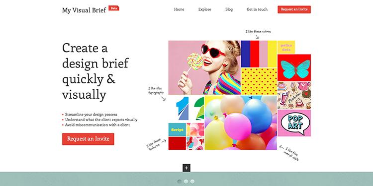 Create a design brief in a visual way using the My Visual Brief.