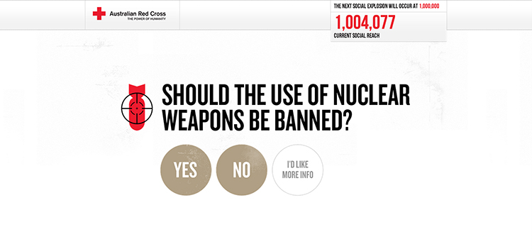 Target Nuclear Weapon  by The Australian Red Cross.