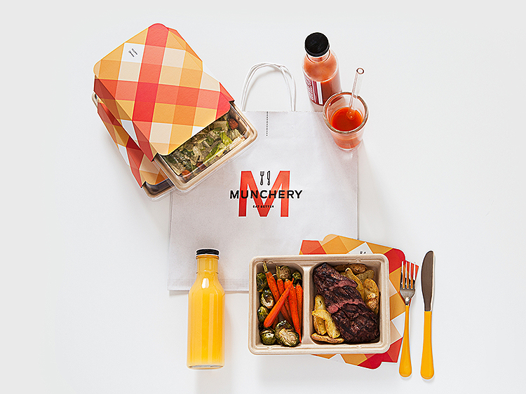 "Munchery by Munchery. ""We used to have ugly plastic packaging, that aside from being bad for the environment, it also didn't work in the oven.... which is the way most of our chefs recommend heating up their food. So customers used to have to do an awkward transfer into something oven safe."""