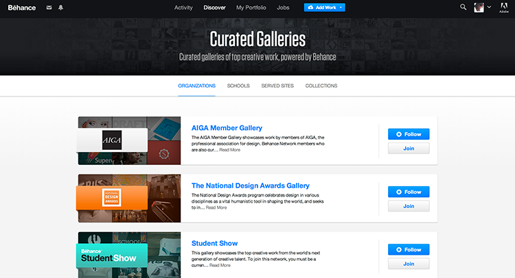 Check out the curated galleries in Behance for specific inspiration you might need.