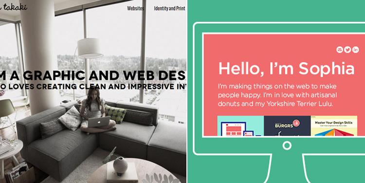Your portfolio is a reflection of who you are as a designer. Left: Beta Takaki's portfolio.