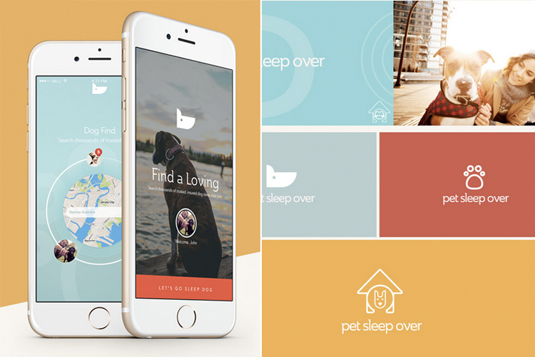 Cüneyt ŞEN from Turkey present the mobile app they have designed for Dog Sleep in a few different ways. On the left, we can appreciate how the app looks in real life and on the right we see the fine details of this design.