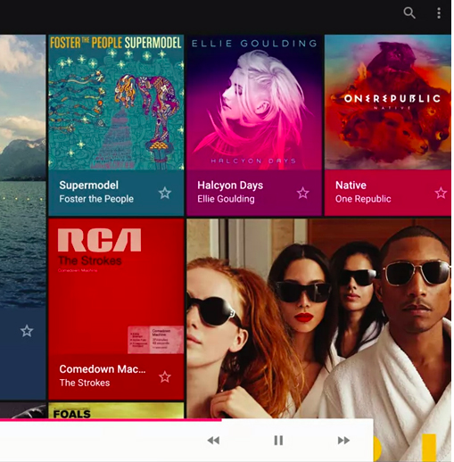 Example from  Google Material Design Specs.