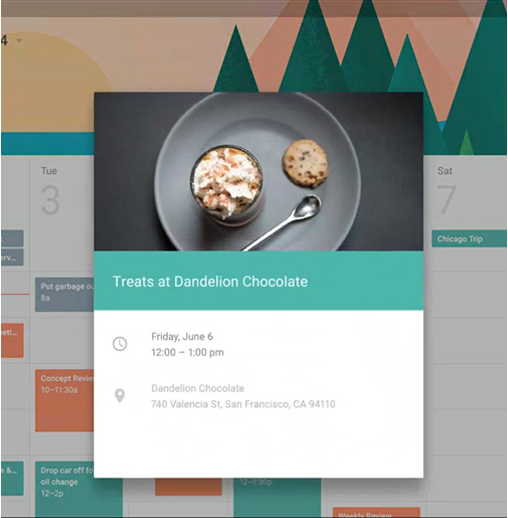 Example  from Google Material Design.