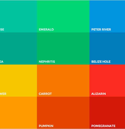 Flat UI Colors.