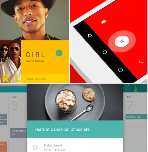 Examples from  Google Material Design Specs.
