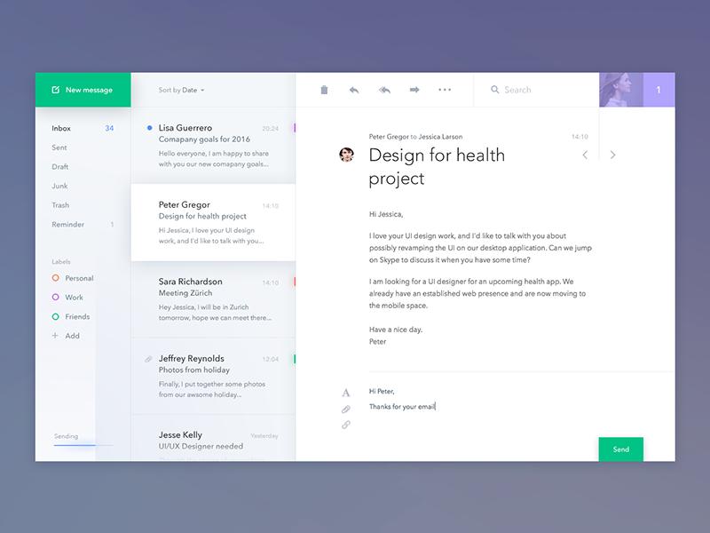 Mail Client App by  Jakub Antalik .