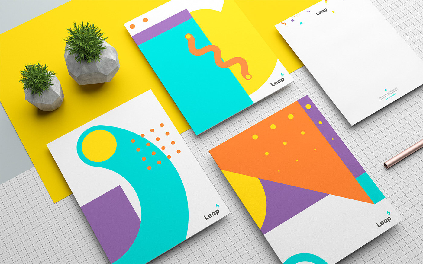 Leap project  by Menta Picante. Featured in the Brand Cards.