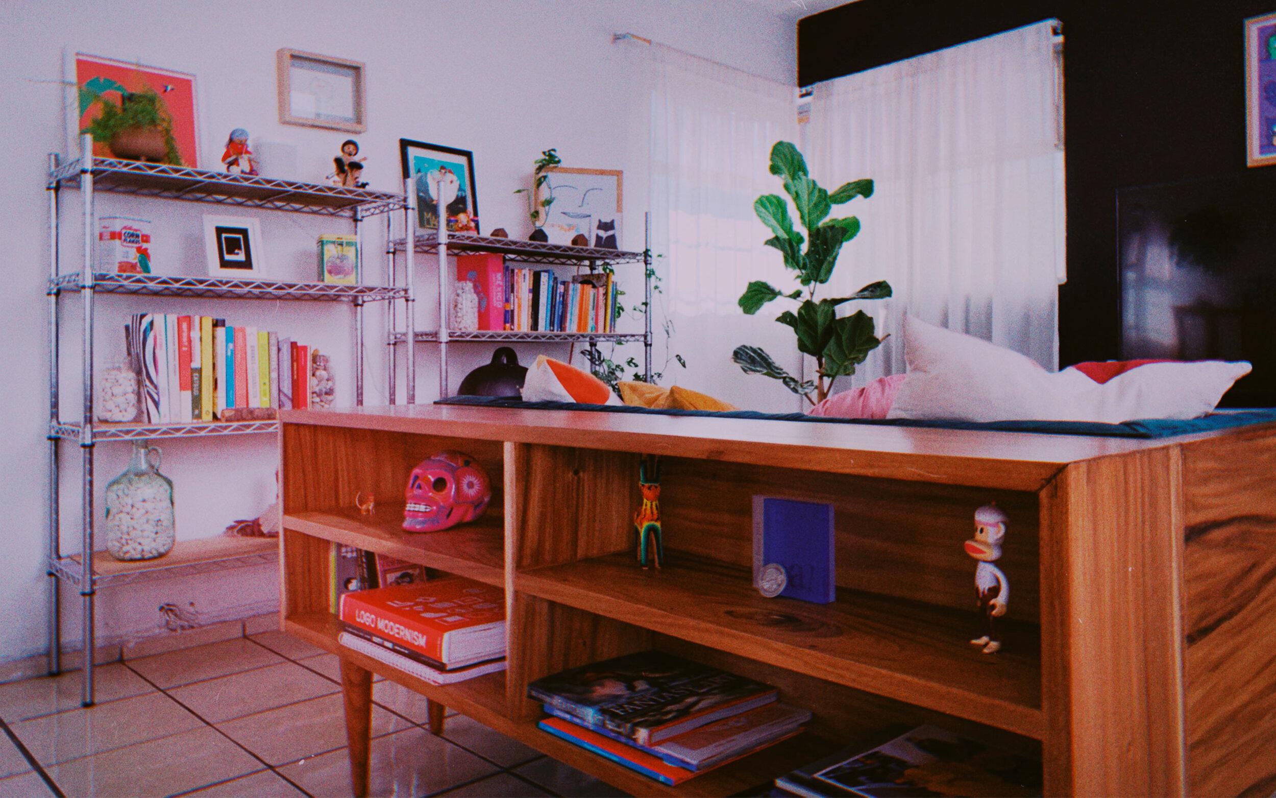 Inside Menta Picante's studio.