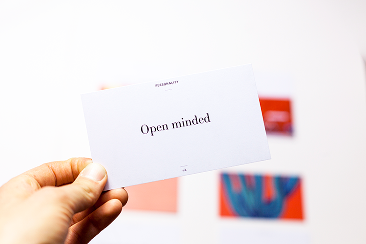 Brand Personality Cards - For more ideas on the personality traits, check out our brand cards. They contain 52 ideas to get inspired by for your branding project.