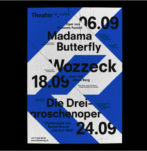 Poster for  San Gallen  theatre designed by  Bureau Collective  (Sweden).