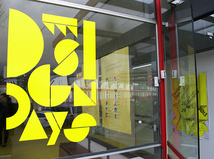 Typography display by A3 Studio.