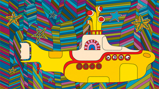 "Peter Max - animated film for ""yellow submarine"" by the Beatles, 1968."