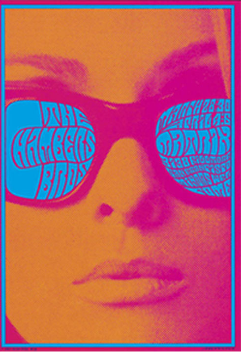 Victor Moscoso - poster for the Chamber Brothers, 1967.