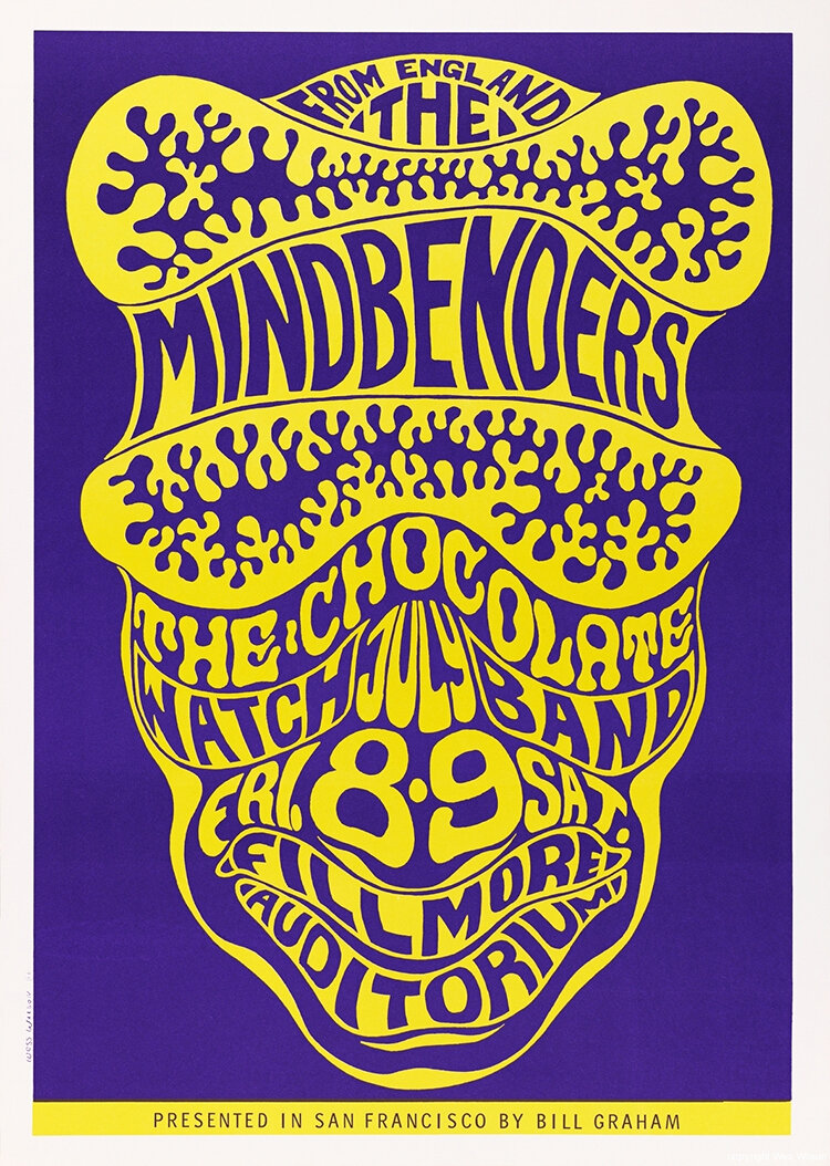 Wes Wilson – poster for The Mindbenders, 1966.