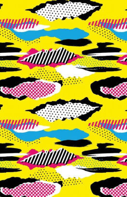 Funky patterns book cover.