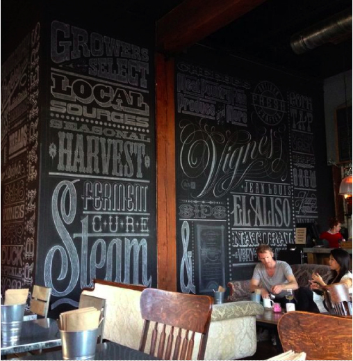 Wall for Eat Drink Americano by  Peter Greco  (USA).