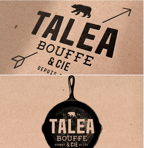 Experimental packaging & identity design project for a restaurant. Design by  J. Chris Schwartz  (USA).