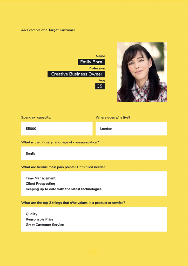 Ideal Customer Profile included in our Brand Strategy Kit.