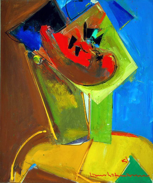 Hans Hofmann,  Polynesian,  1951, oil on canvas, 24 x 20 inches Signed and dated lower right