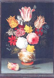 Balthasar van der Ast,  Flowers in a Wan-Li Vase , from the former Collection of Paul Julius Hartog (1868-1942)