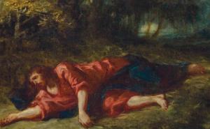 Eugène Delacroix, The Agony in the garden ,circa 1849